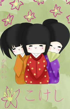 Kokeshi Dolls by ~Nippondaisuki on deviantART