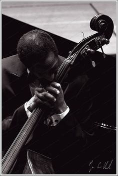 American jazz double-bassist and cellist, Ron Carter. One of the most-recorded bassists in jazz history, with contributions to over 2,500 albums.