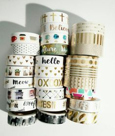 "Washi Tape-24"" Sample/ gold foil washi tape/cats/hearts/globe/succulents/hobby lobby"