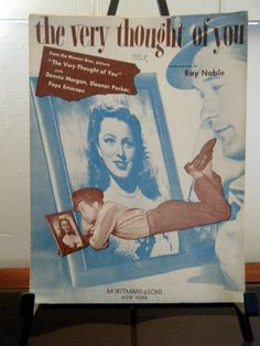 1940's Sheet Music The Very Thought Of You by KaiserVonVintage