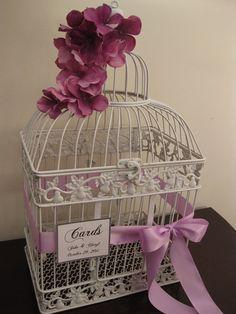 bird cage wedding card holder