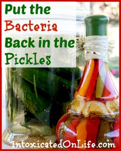 Put the Bacteria Back in the Pickles: Reasons why you should be adding fermented foods and beverages to your menu!