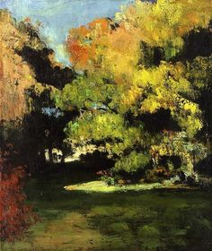 The Clearing - Paul Cezanne - circa 1867 (Reminds me of the garden at Gelli Gynan)