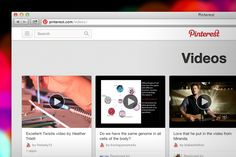 Pin A Video!, via the Official Pinterest Blog