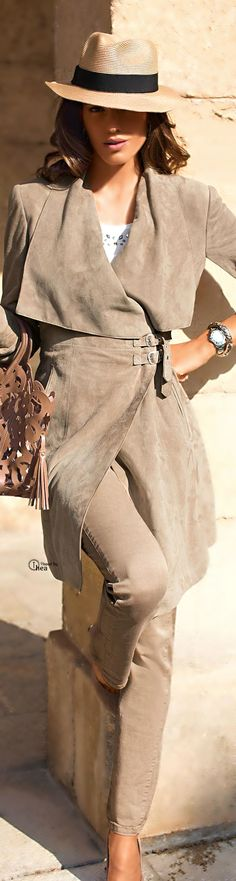#street #fashion fall coat beige @wachabuy