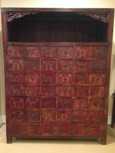 Antique Chinese Apothecary Chinese Medicine Cabinet | eBay
