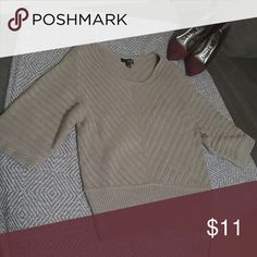 a.n.a sweater Tan nitted sweater...3/4 sleve a.n.a Sweaters Crew & Scoop Necks