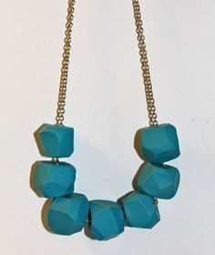 DIY Turquoise Clay Necklace  By gerbermom / July 14, 2011