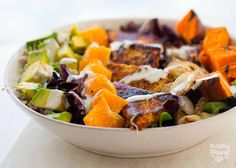 This bowl gets a signature name because I love it so much, and make it so often:  Kathy's Special BBQ Tempeh Bowl .   The Goods.  Smoky-swe...