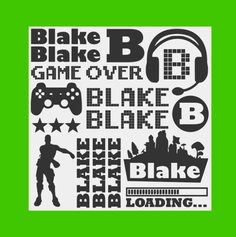 Gaming Name Decal Sheets - Back To School Personalized Name Decal Sheet - Personalized Name Decals for school supplies - gaming decals - fortnite decals – CookieCutterGifts