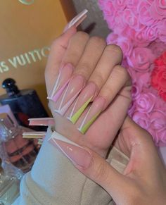 French Manicure Acrylic Nails, Summer Acrylic Nails, Cute Acrylic Nails, Gel Nails, Cute Acrylic Nail Designs, Exotic Nails, Trendy Nail Art, Dope Nails, Birthday Nails