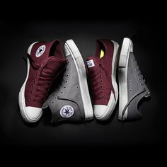 Who's ready for more? The Converse Chuck Taylor All Star II in Bordeaux & Gray, now in select markets. #ChuckII