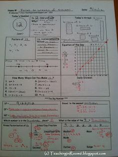 Teaching in Room 6: Calendar Math: Student Responses