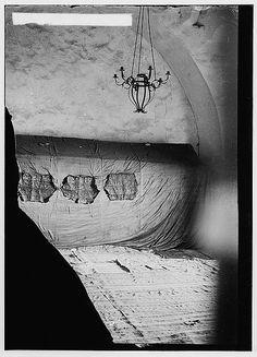 Jerusalem, Israel  ~ Tomb of King David, interior 1936