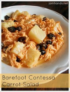 Barefoot Contessa Carrot Salad at Jam Hands. This was a dish that Momma served at all gatherings and it's soooo good!