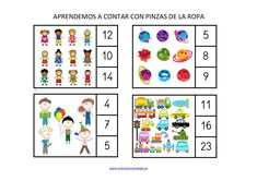 tarjetas-abn-xxl-para-trabajar-con-pinzas-001 Calendar, Playing Cards, Education, Math, Games, Holiday Decor, Geometric Fashion, Learning Activities, Shapes
