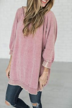 Free People - My Pullover - Dusty Rose