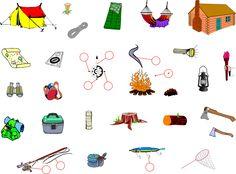 Camping - English Vocabulary - IWB activity.