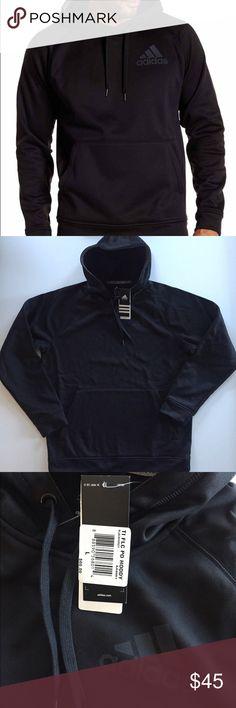 Adidas Men's Pullover Fleece Hood with drawstring Interior locker loop Split front kangaroo pockets Heathered fabric Climawarm technology 100% Polyester Fleece Back Body Length (in): S = 28 | M = 29 | L = 30 | XL = 31 | XXL = 32 Adidas Shirts Sweatshirts & Hoodies