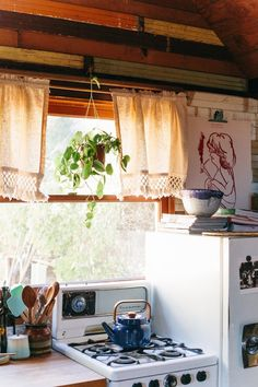 A tiny 250 square feet one-room rental cabin is filled with family heirlooms and Southwest-inspired decor.