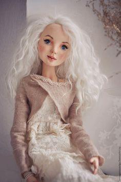 Купить СВЕТЛАНА - белый, кукла, кукла ручной работы, кукла интерьерная, кукла авторская