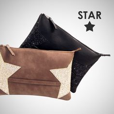 STAR COLLECTION #loristella #bags #pochette #star #madeinitaly #black #gold #glitter #accessories #winter #collection