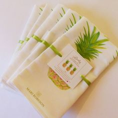 """""""Darling It wouldn't be a party without you!"""" New! Pineapple Party Tea Towels! #HostessGifts #Teatowel #Pineapples """"PartyQuotes"""" #MariRobeson"""