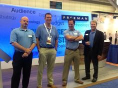 Our friendly Freeman staff at Healthcare Convention and Exhibitors Association's #HCEA2014 in Cleveland! #FreemanCo #TrueBlue