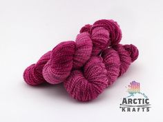 Mixed berry sorbetHand dyed chunky  weight thick by Arctickrafts