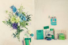 #Emerald goes light. Create a mix of #green and #blue!  #flowers #weddings