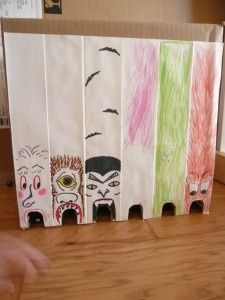 Monster marble game. We are doing this this week  just the kind of thing that will keep my boys entertained!