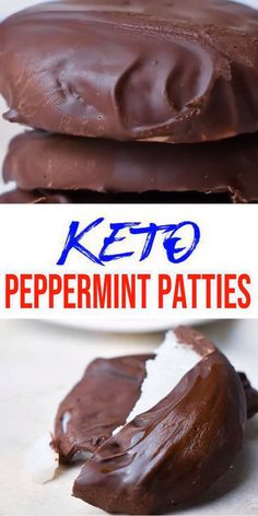 BEST keto dessert, keto snack or keto chocolate peppermint patty idea. Try a simple & quick homemade keto mint candy bar - no bake. Gluten f Keto Foods, Keto Snacks, Low Carb Desserts, Easy Desserts, Low Carb Recipes, Holiday Baking, Christmas Desserts, Holiday Treats, Low Carb Sweets