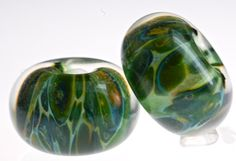 Paulbead+boro+lampwork+glass+bead+pair+for+earrings+por+paulbead,+$9.00