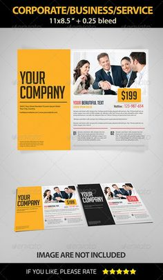 Buy Landscape Corporate/Business/Service Flyer by Ngelamang on GraphicRiver. Any parties can be successfully promoted with this great flyer template. Psd Flyer Templates, Business Flyer Templates, Print Templates, Promo Flyer, Corporate Business, Corporate Design, Creative Suite, Flyer Design, Color Change
