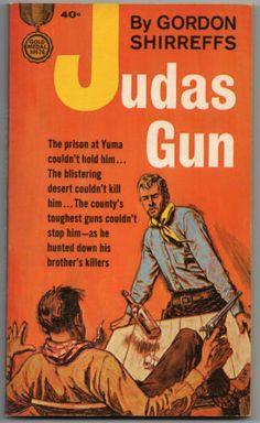 1964 First of Judas Gun by Shirreffs Gold Medal K1476 ,Vintage Paperback