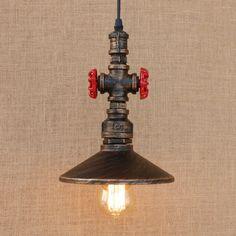 109.00$ Buy here - http://alin1u.worldwells.pw/go.php?t=32741470173 - Loft Style Metal Water Pipe Lamp Retro Edison Pendant Light Fixtures Vintage Industrial Lighting Dining Room Hanging Lamp 109.00$