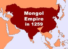 At its height, the Mongol Empire stretched from Korea to Hungary and as far south as Vietnam. It was the largest land empire the world has ever known. Genghis Khan, Historical Artifacts, Historical Maps, Ancient Aliens, Ancient History, Tibet, Kublai Khan, Cultura General, Ap World History