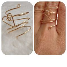 Heart Wire Ring by shopenvyme2013 on Etsy, $4.00. Use coupon code: PINTEREST to receive 20% off your purchase.