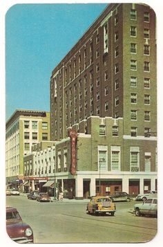 Looking West on Sixth Street-Sioux City Iowa Vintage Postcard