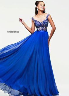 Royal Blue Off Shoulder Sherri Hill