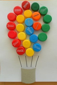 Diy Bottle Cap Crafts 346355027594973389 - If you need any ideas of craft projects that you can get your hands on, have a look at these inspirational recycled craft ideas. Source by elianelimousin Bottle Top Art, Bottle Top Crafts, Plastic Bottle Crafts, Recycle Plastic Bottles, Diy Bottle, Paper Crafts For Kids, Preschool Crafts, Diy For Kids, Recycled Crafts Kids