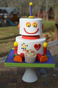 cute Robot Cake