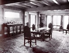 This is how the dining room at Pickfair looked in the early 1920s. Two things surprises me: all those windows allowing in lots of California light—for some reason, I pictured it darker than that. Also, I'd have thought Mary and Doug's dining table would have been far larger than that, so I assume that this was just their casual one for more intimated dining. On my website, I have a shot of how that room looked after a 1925 remodel: https://wp.me/p5XK3w-39D