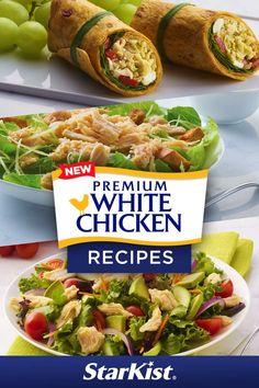 Easy Cooking, Cooking Recipes, Healthy Recipes, Diabetic Recipes, Mediterranean Chicken, Mediterranean Recipes, Wrap Recipes, Easy Dinner Recipes, Can Chicken Recipes