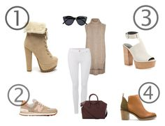"""""""???"""" by suhfranco ❤ liked on Polyvore featuring Rebecca Minkoff, River Island, 7 For All Mankind, Miista, New Balance, Le Specs and Givenchy"""