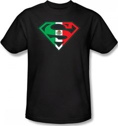 Superman Mexican Flag Shield T-Shirt
