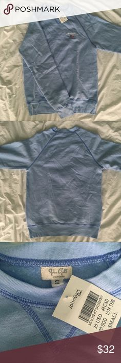 Brandy Melville Newport Beach Erica Sweatshirt NWT - Baby blue Erica Sweatshirt from Brandy Melville  - Newport Beach graphic stitched onto chest - Stitched v along neckline  - Size small, not oversized  - New with tags, flawless, never worn, brand new  - Originally $35 Brandy Melville Sweaters Crew & Scoop Necks