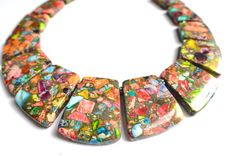 The Martinique Multi Color Jasper Statement by danaleblancdesigns