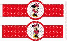 Minnie Red and White Polka Dots: Free Party Printables. - Oh My Fiesta! in english Minnie Mouse Stickers, Mickey E Minnie Mouse, Theme Mickey, Mickey Party, Pirate Party, Comic Party, Beatles Party, Mickey Mouse Birthday, Tangled Birthday
