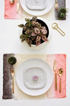 Ma maison au naturel: Créez vous-même des sets de table tie and dye